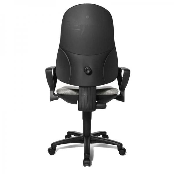 Chaise de bureau grise avec accoudoirs et roulettes – Support P - 35