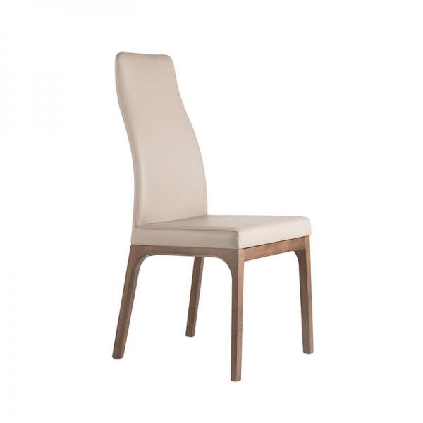 Chaise design de salle à manger en bois et synthétique  - 1