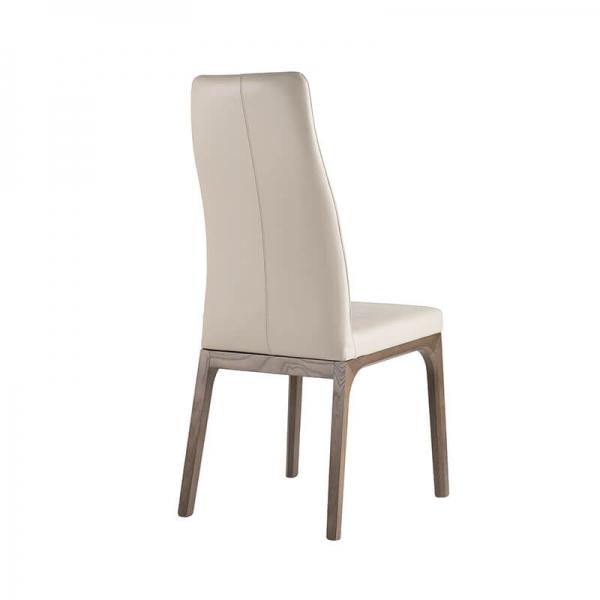 Chaise de salle à manger design en synthétique et en bois - 3
