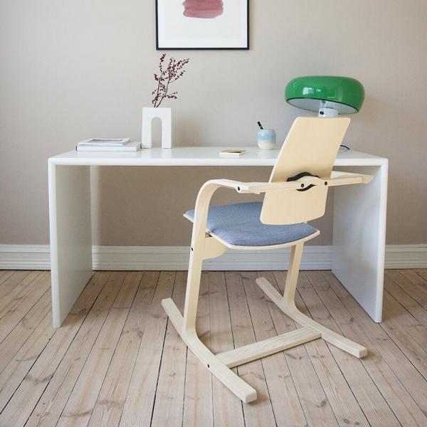 Chaise à bascule de bureau ergonomique bleue - Actulum Varier® - 7