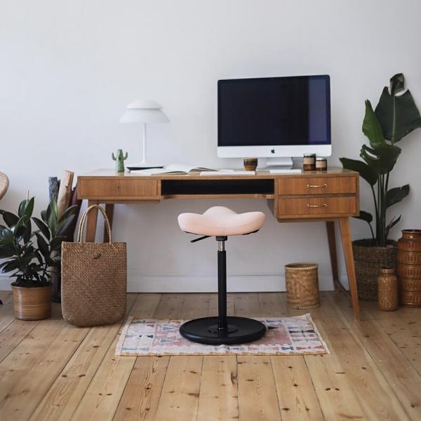 Tabouret ergonomique en bois, métal et assise en tissu - Move Varier® - 10