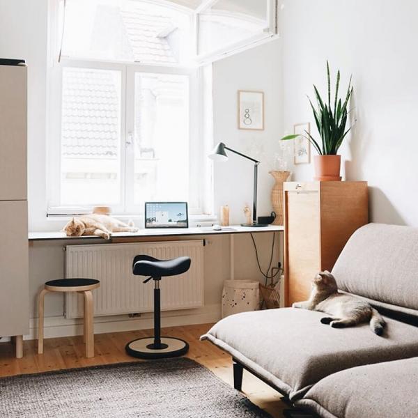 Tabouret ergonomique assise en tissu réglable en hauteur - Move Small Varier® - 8
