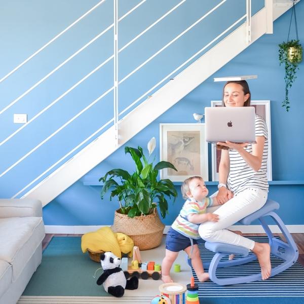 Chaise de bureau ergonomique à bascule en tissu - Variable Monochrome Varier® - 3