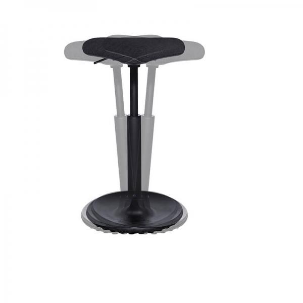 Tabouret de bureau ergonomique réglable en hauteur noir - 6