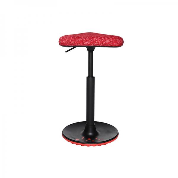 Tabouret de bureau confortable en tissu rouge - 11