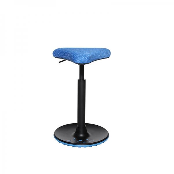 Tabouret réglable en hauteur pour bureau bleu - 26