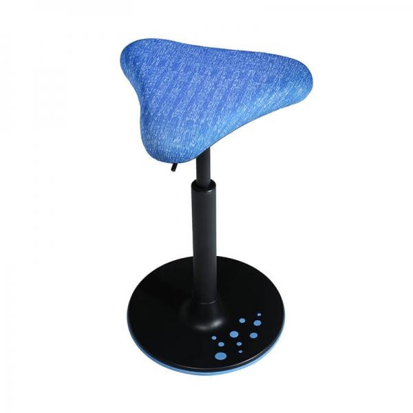 Tabouret en tissu confortable bleu - 31