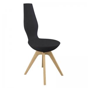 Chaise de salle à manger design et inclinable en tissu