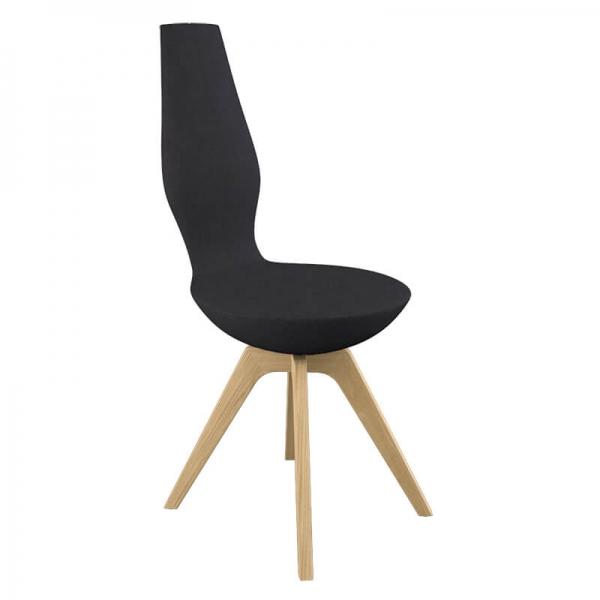 Chaise de salle à manger design et inclinable en tissu  - 1