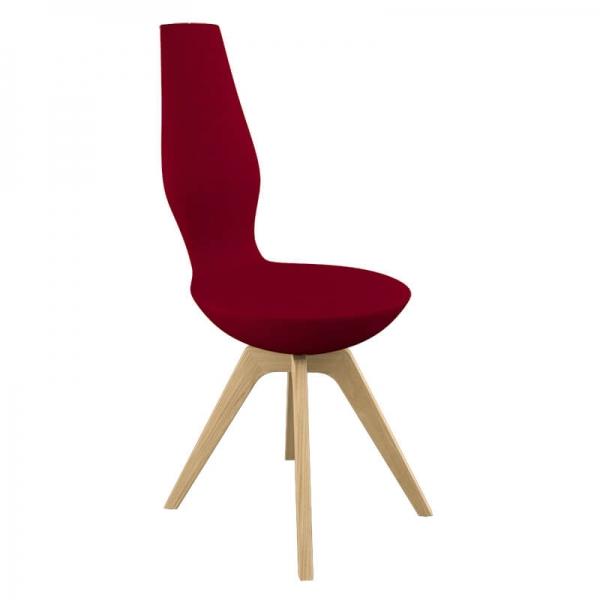 Chaise moderne pour salle à manger rouge - 4