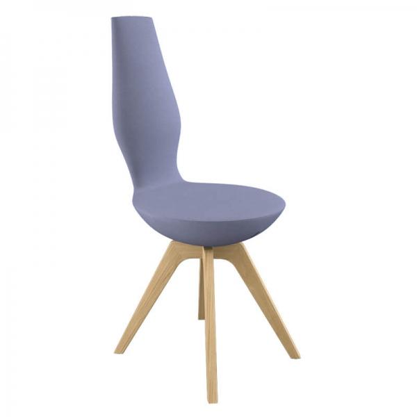 Chaise moderne en tissu avec pieds en bois - 6