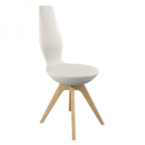 Chaise de salle à manger en tissu et en bois - 7