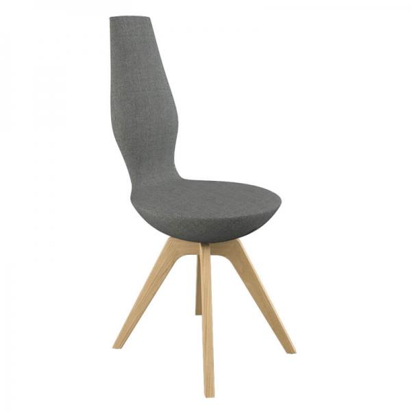 Chaise de salle à manger moderne grise - 9
