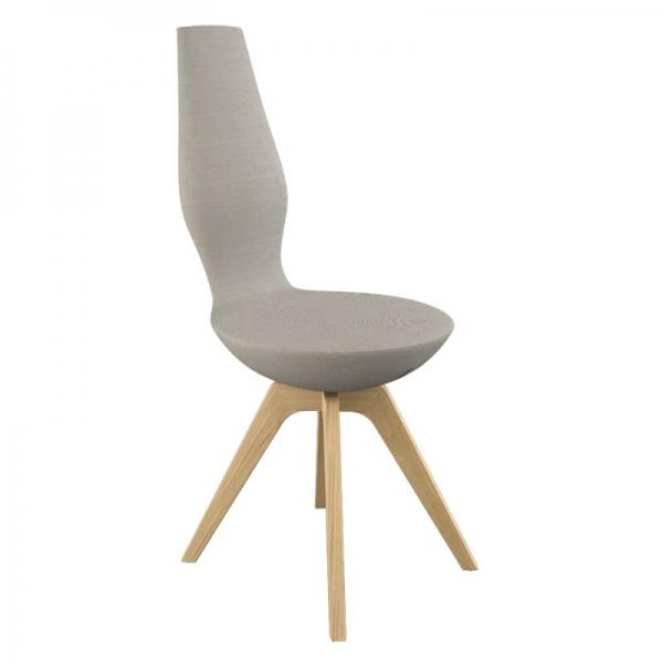 Chaise moderne de salle à manger en tissu - 12