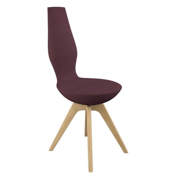 Chaise design en bois et en tissu - 13