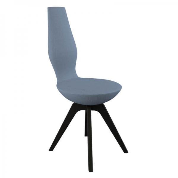 Chaise design pour salle à manger pieds noirs - 14
