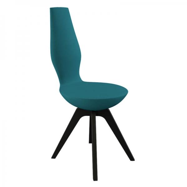Chaise moderne en bois et en tissu - 15