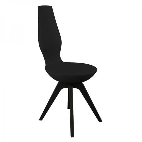 Chaise design noire pour salle à manger - 16