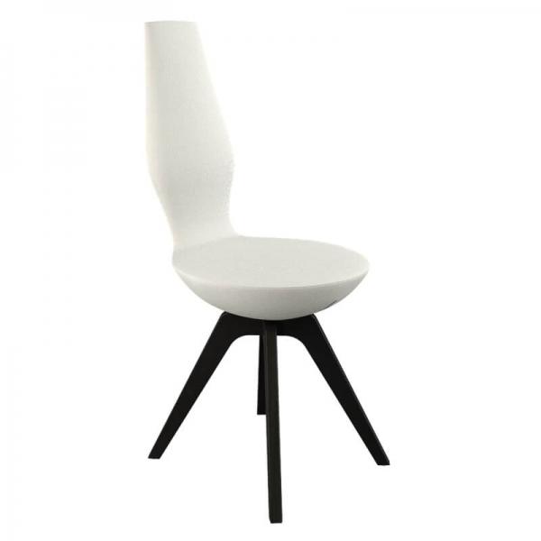 Chaise de salle à manger en tissu blanc - 18