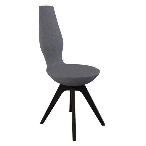 Chaise en bois et en tissu pour salle à manger design - 20