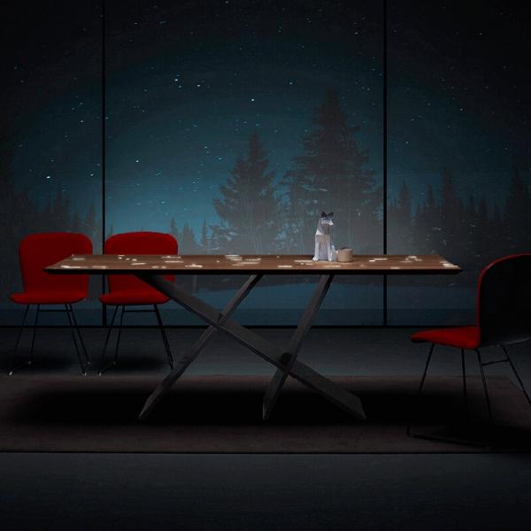 Table rectangulaire design en bois - 4