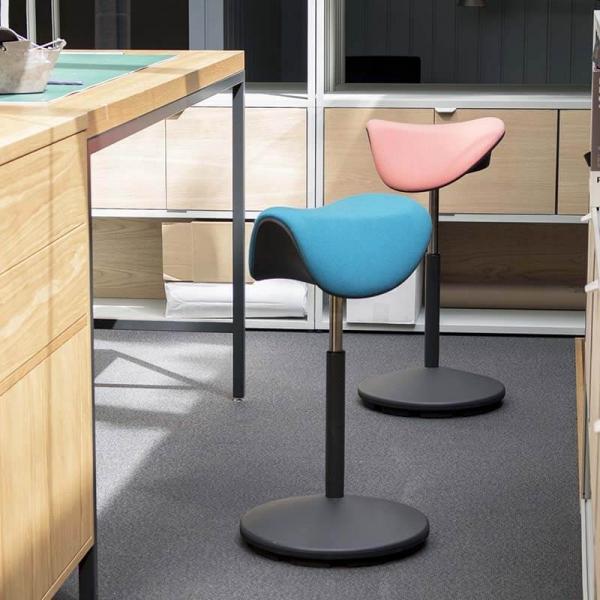 Tabouret de bureau ergonomique et réglable en hauteur en tissu – Motion Varier® - 2
