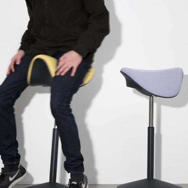 Tabouret ergonomique hauteur réglable en tissu – Motion Varier® - 17