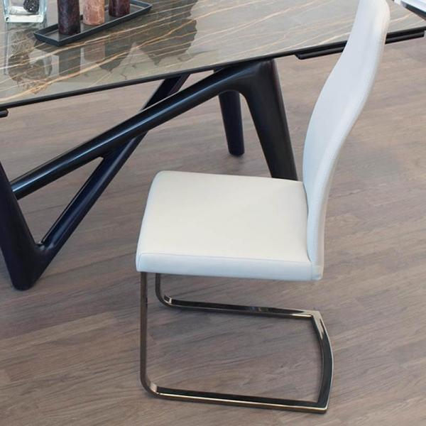 Chaise de séjour blanche italienne pieds luge - Sveva SLH - 4