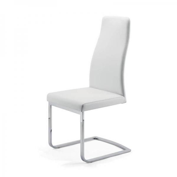 Chaise de salle à manger blanche pieds luge - Sveva SLH - 2