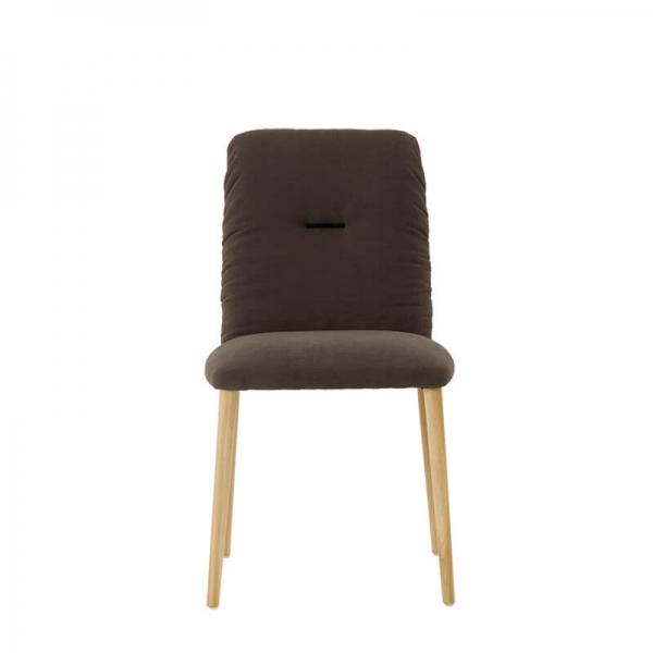 Chaise style cocooning en tissu et pieds bois - Aura Mobitec® - 3