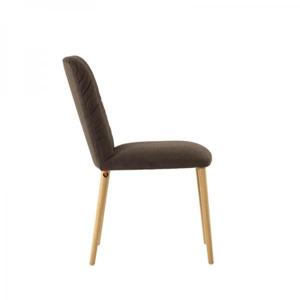 Chaise en tissu et pieds bois - Aura Mobitec® - 4