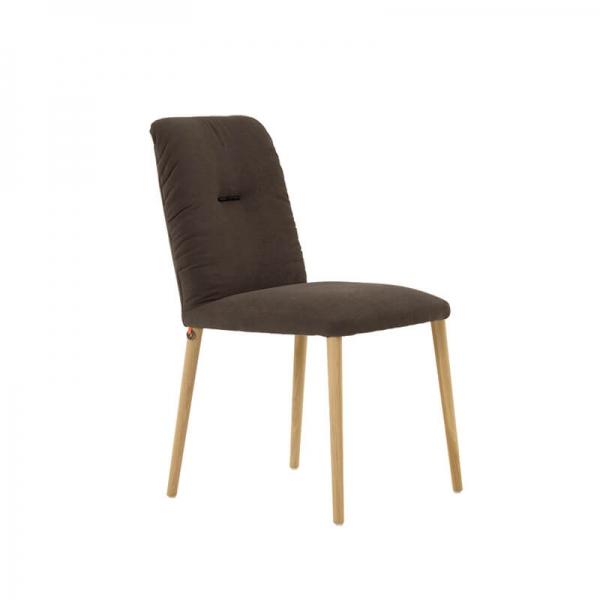 Chaise cocooning en tissu et pieds bois - Aura Mobitec® - 2