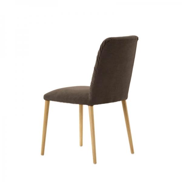 Chaise style cocooning en tissu et pieds bois - Aura Mobitec® - 5