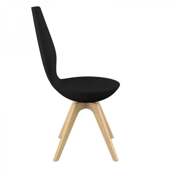Chaise de salle à manger design et inclinable en tissu avec pieds en bois - Date Varier® - 3