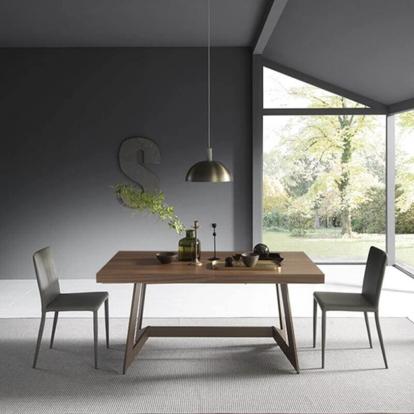 Table design extensible de salle à manger en bois– Sipario  - 3