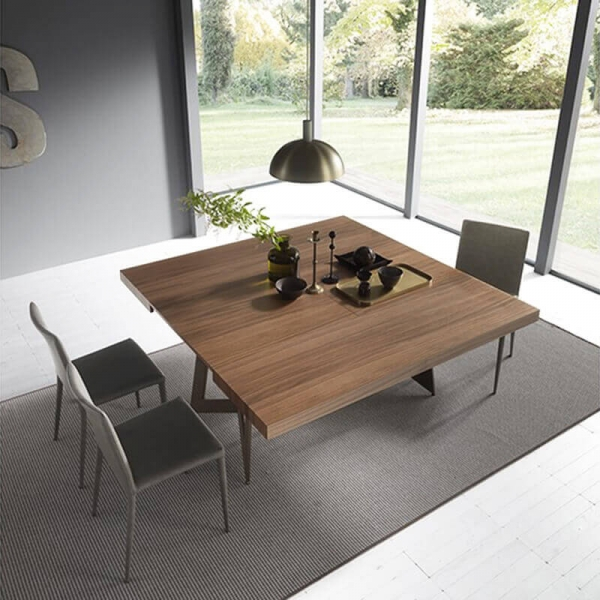 Table à rallonge design en bois – Sipario  - 5