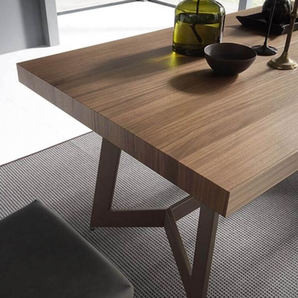 Table moderne de salle à manger en bois – Sipario  - 6