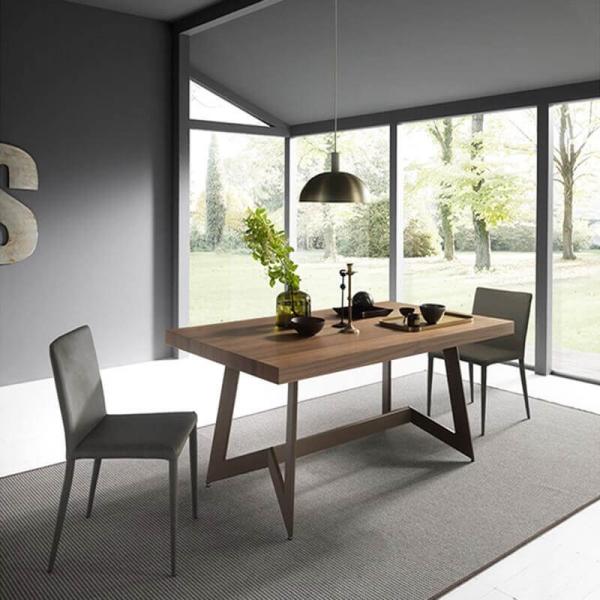Table design en bois avec rallonge – Sipario  - 1