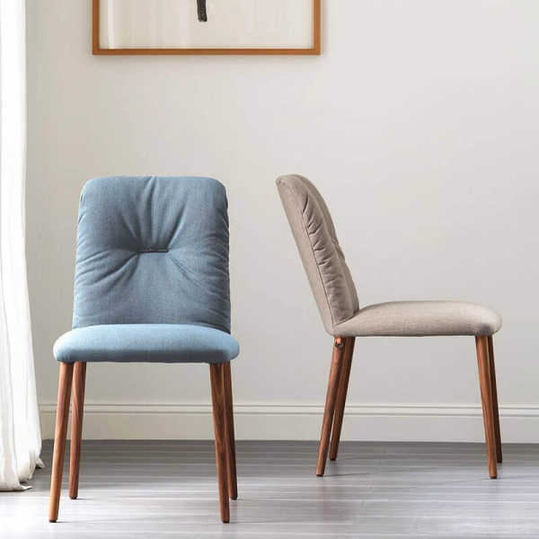 Chaise style cocooning en tissu et pieds bois - Aura Mobitec® - 1