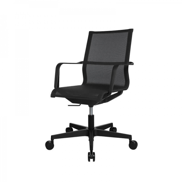 Chaise de bureau filet contemporain noire - Sitness Life 40 - 3