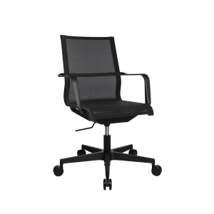 Fauteuil de bureau filet contemporain noir - Sitness Life 40