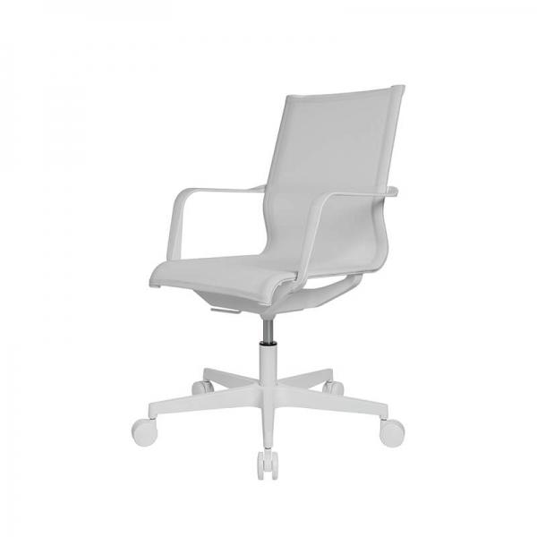 Chaise de bureau filet contemporain blanche - Sitness Life 40 - 10