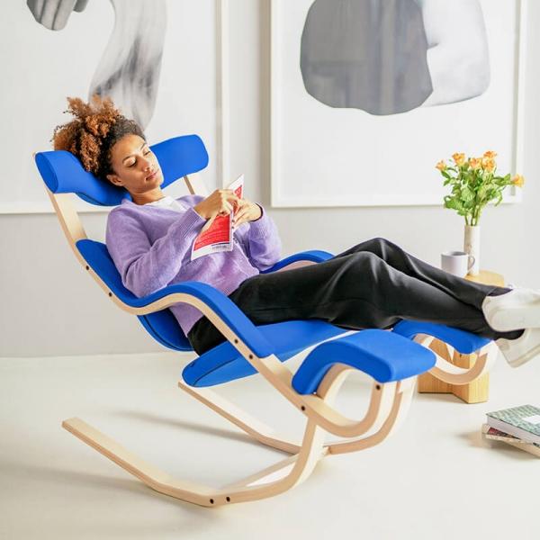 Fauteuil de relaxation bleu- Gravity Varier® - 3