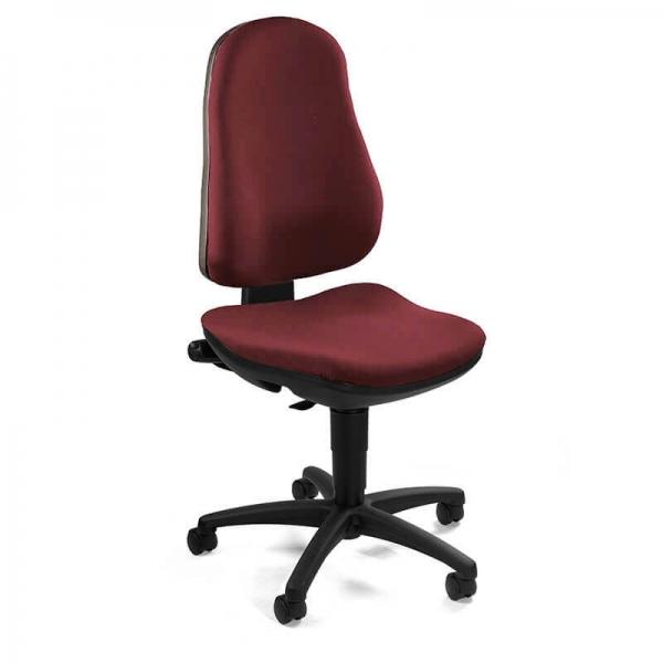 Chaise de bureau en tissu et réglable en hauteur – Support P - 25