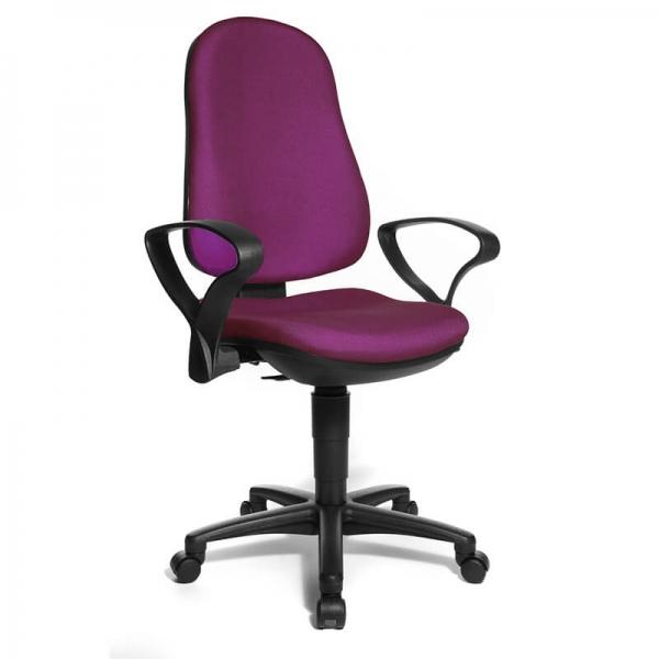 Chaise réglable pour bureau avec accoudoirs – Support P - 36