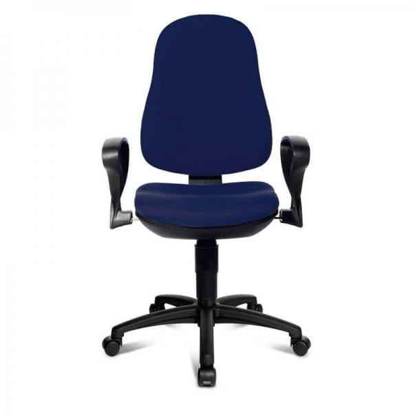 Chaise de bureau bleu foncé – Support P - 40