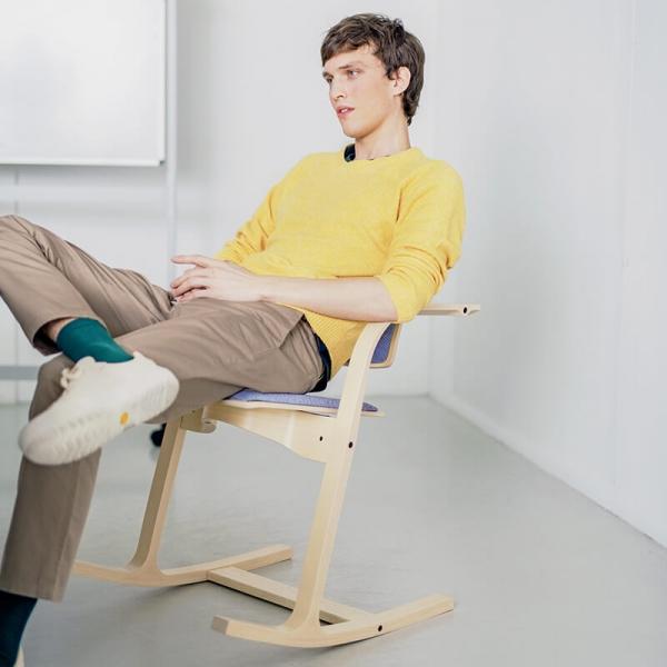 Chaise à bascule de bureau ergonomique bleue - Actulum Varier® - 9