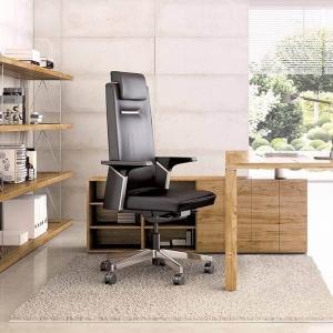Fauteuil de bureau en cuir avec roulettes - K01