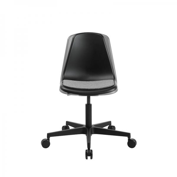Chaise avec roulettes noire pour bureau avec coussin - Sitness life 10 - 9