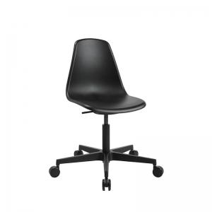 Chaise réglable avec roulettes noire pour bureau - Sitness life 10